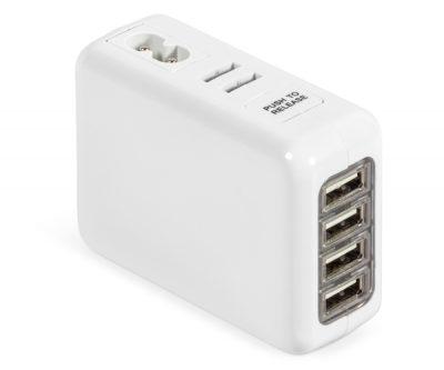 Hubspot International Usb Charging Adaptor – Avail in: White