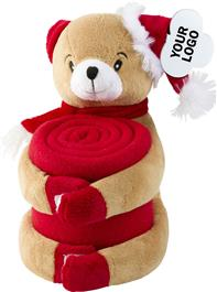 Bear Soft Toy With Fleece Blanket