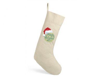 Good Tidings Cotton Christmas Stocking