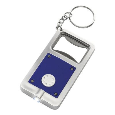 Keychain with Bottle Opener and LED Light