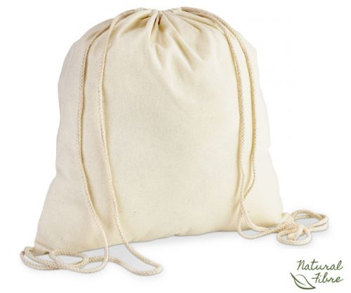 Eco-Cotton Drawstring Bag – Avail in: Natural