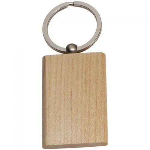 Beech wood round key ring