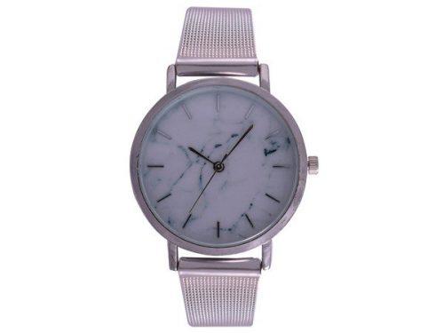 Ash White Wrist Watch – Silver Mesh