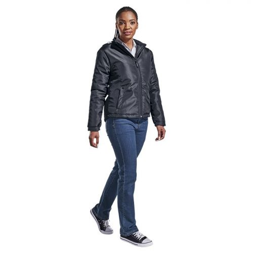 Ladies Cooper Jacket – Avail in: Black/Silver or Navy/Silver