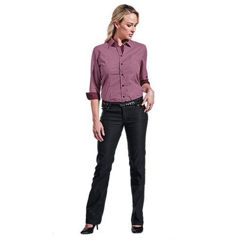 Ladies Stretch Chino Pants – Avail in: Black