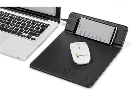 Ashburton Mousepad with Wireless Charger – Black
