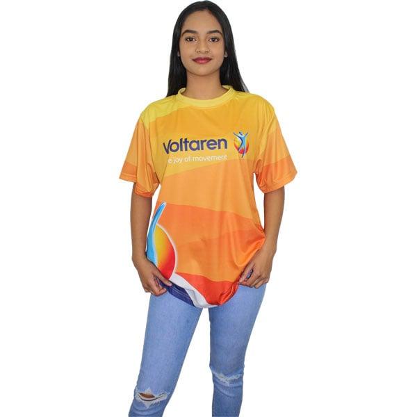Sandpoint Custom V-neck T-shirt- Can take a full colour print