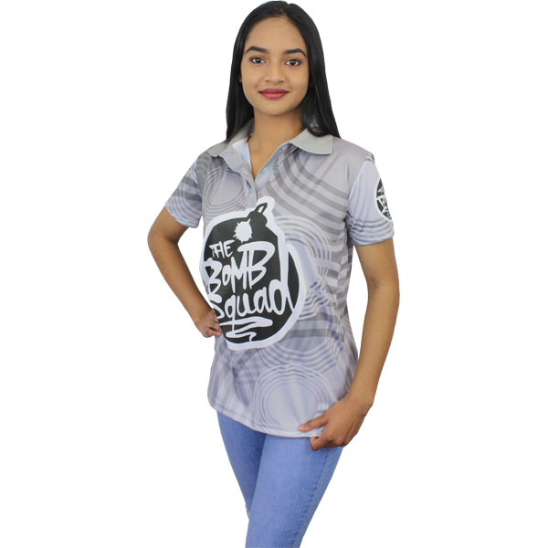 Custom Golf Shirt – Women – Can take a full colour print