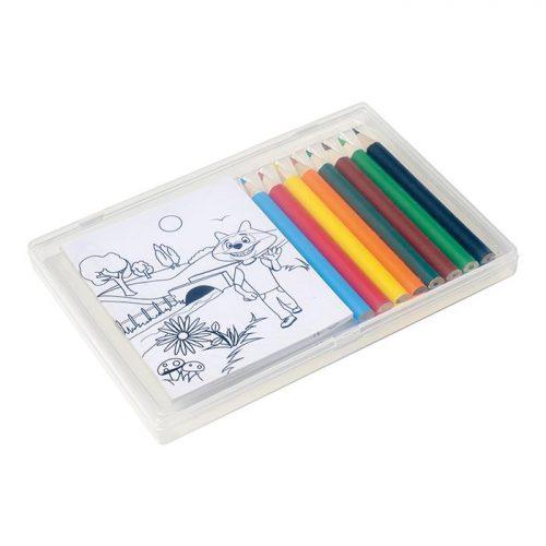 Colouring In Set In Plastic Case