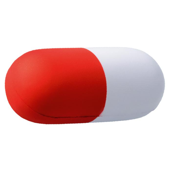 Capsule Shape Stress Ball – Avail in: Blue/White or Red/White