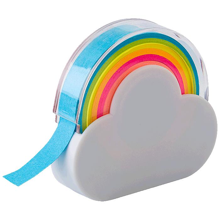 Rainbow Memo Tape Dispenser  – Avail in: White