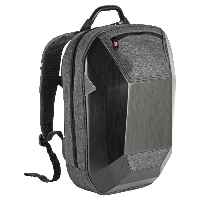 Hard Shell Protective Tech Laptop Backpack – Avail in: Grey/Black