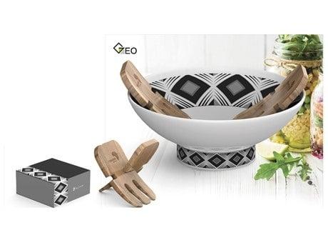 Geo Salad Set – Black