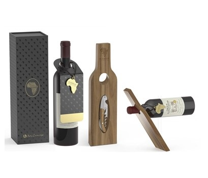Afrique Wine & Holder Set – Wood