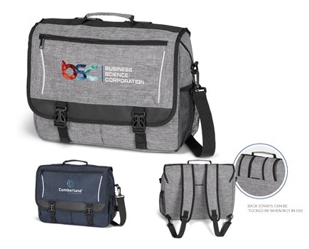 Collegiate Compu-Messenger Bag – Avail in: Grey or Navy