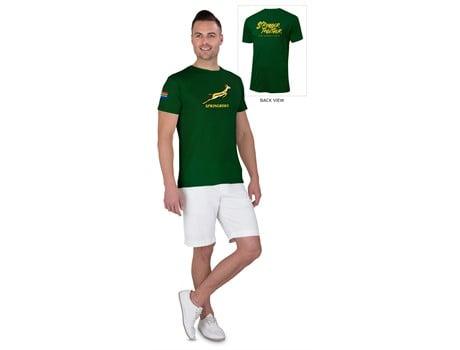 Springbok Unisex T- Shirt Option 1 – Available in: Black