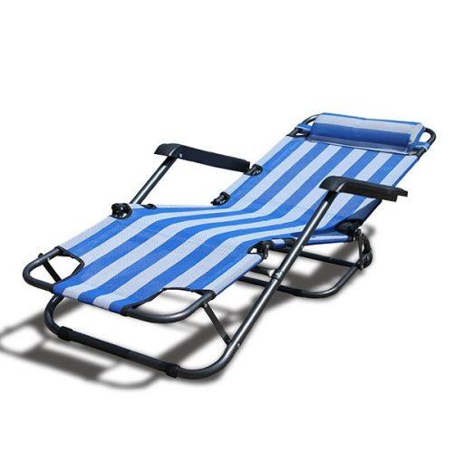 Enjoyable Beach Chair Blu White Stripe Caraccident5 Cool Chair Designs And Ideas Caraccident5Info