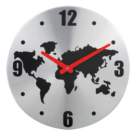 Buy World Map Wall Clock Corporate And Promotional Gifs Pgifts