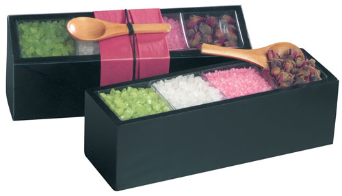 Bath Gift set – Bath salts and dry rose with wooden spoon
